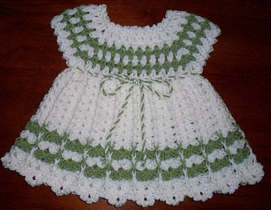 Bebek Örgü Elbise Modelleri
