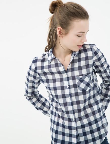 Koton Bayan Kareli Gömlek Modelleri