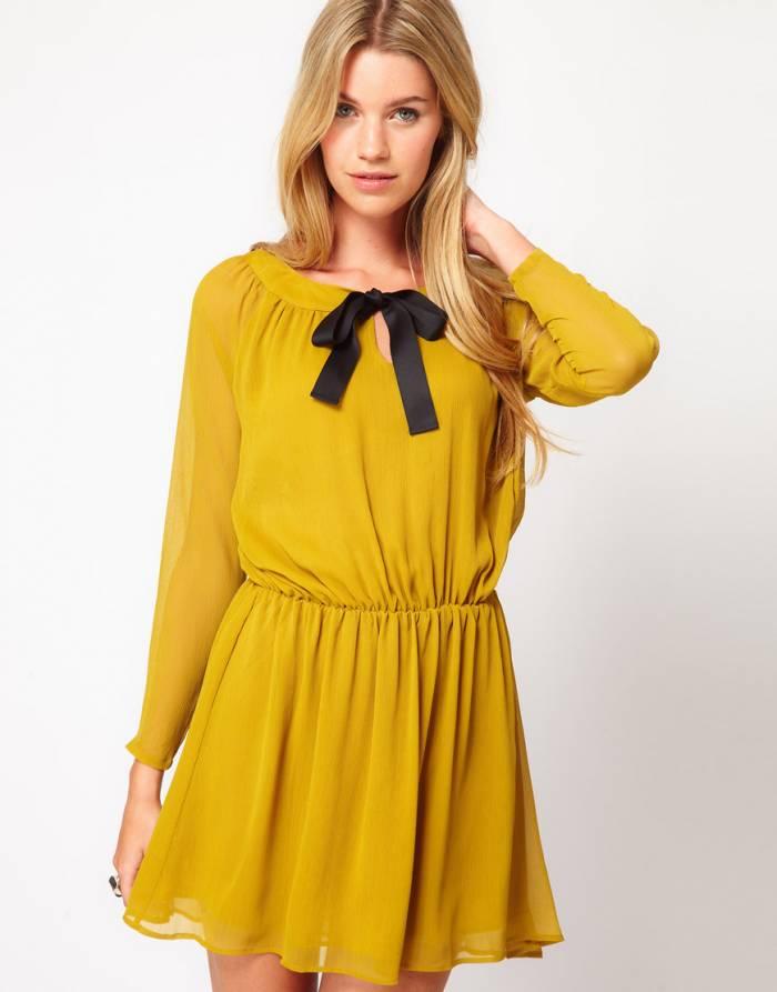 Sarı Elbise Modelleri
