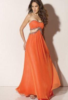 Turuncu Elbise Modelleri